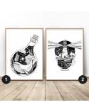 Zestaw dwóch plakatów Wieloryb i latarnia 2