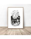 Plakat abstrakcyjny Balon kaktus w słoiku 2