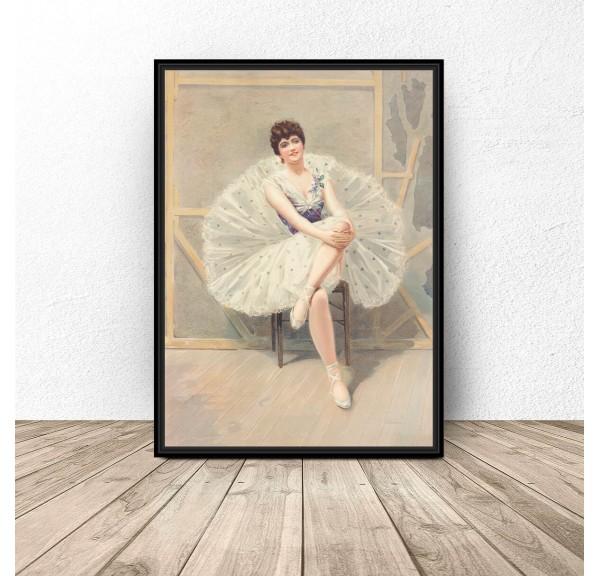 Plakat reprodukcja The belle of the ballet Julius Mendes