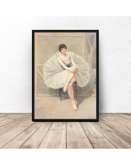 "Plakat reprodukcja ""The belle of the ballet"" Julius Mendes"