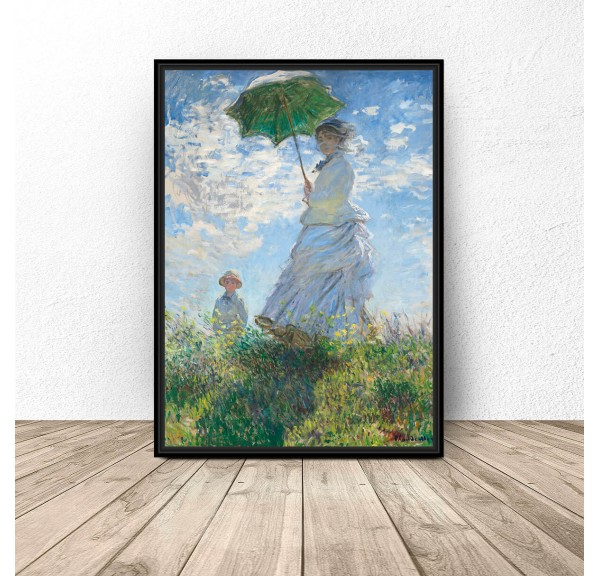 Plakat reprodukcja Kobieta z parasolem Claude Monet
