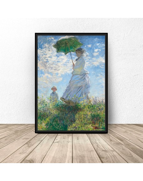 "Plakat reprodukcja ""Kobieta z parasolem"" Claude Monet"