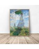 Plakat reprodukcja Kobieta z parasolem Claude Monet 2