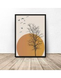 copy of Colorful poster Sunset tree 2