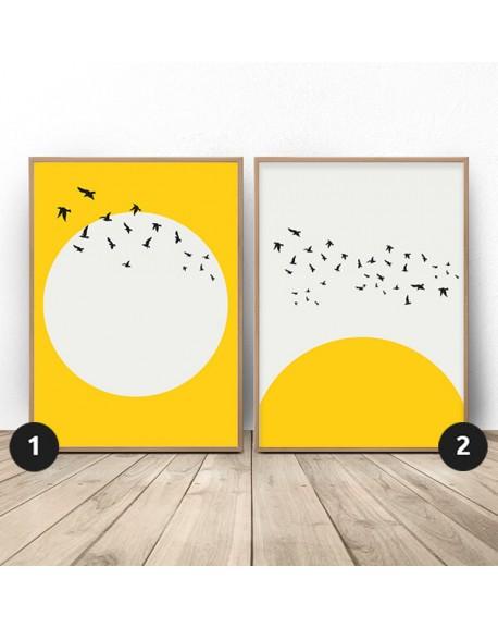 """Zestaw dwóch plakatów """"Słoneczny zestaw"""""""