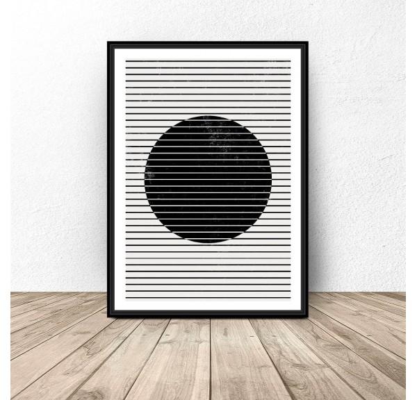 Plakat abstrakcyjny Koło pod pasami