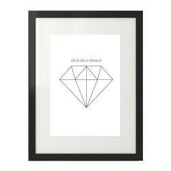 "Plakat z diamentem ""Diamond"""