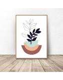 Plakat botaniczny Roślina w kolorowej doniczce 2