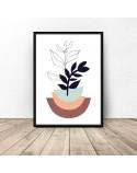 Zestaw 3 plakatów ze szkicem roślin 4