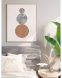 Plakat abstrakcyjny w stylu boho Trzy kule 3