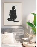 Plakat minimalistyczny Kobieta w cieniu 2