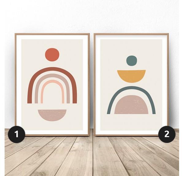 Zestaw dwóch plakatów z tęczami