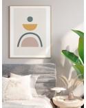 Plakat abstrakcyjny w stylu boho Zielona tęcza 3