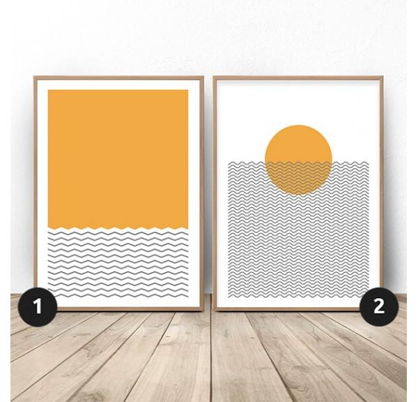 Plażowy zestaw dwóch plakatów