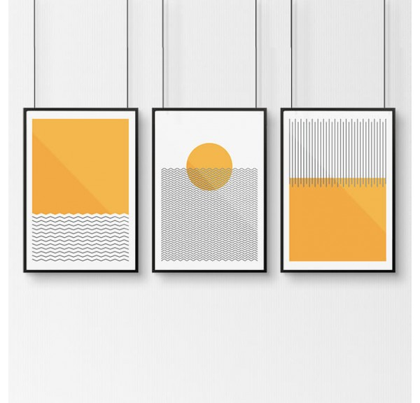 Zestaw 3 plakatów z plażowym motywem