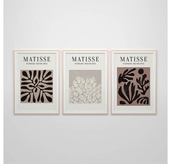 Zestaw trzech plakatów Roślinność Henri Matisse