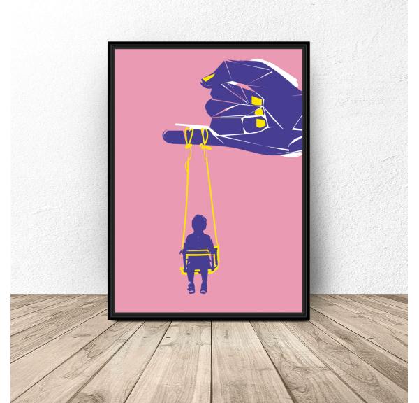 Plakat współczesny Dzień Dziecka
