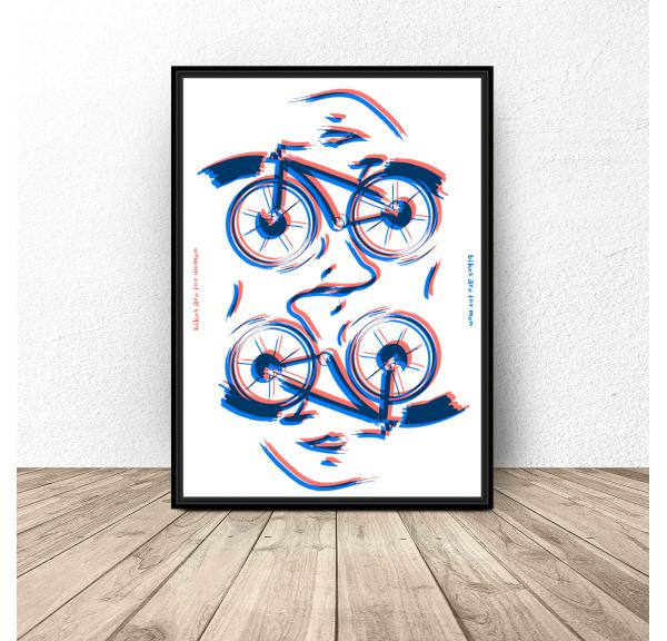 Plakat nowoczesny Rowery
