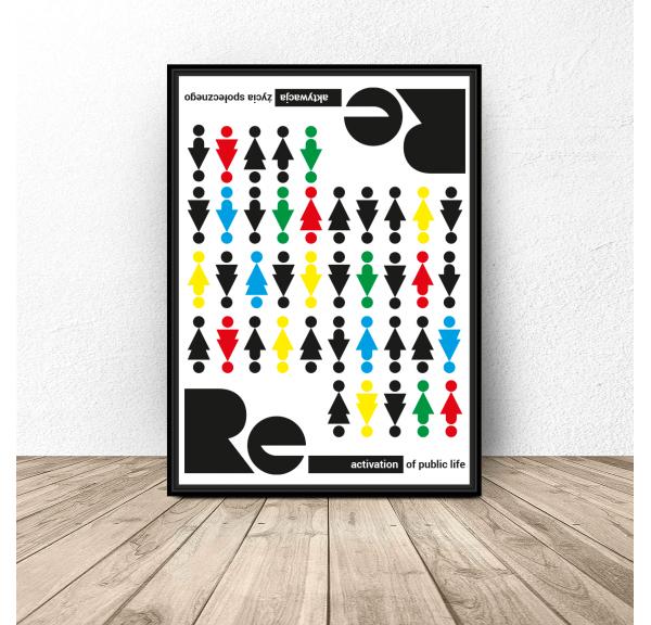 Plakat nowoczesny Re