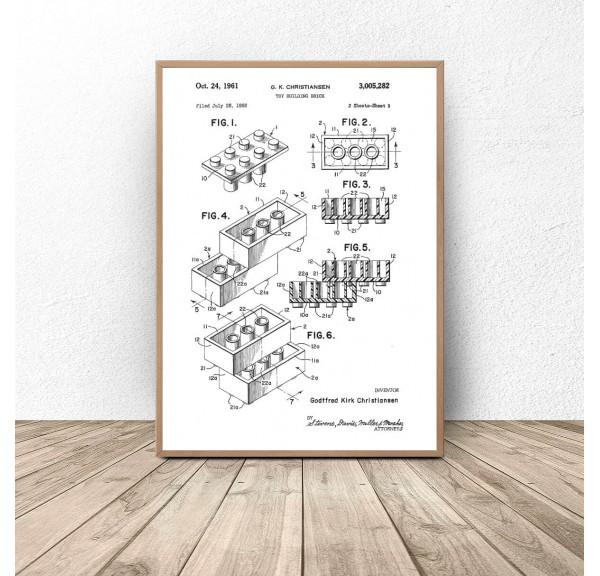 Plakat Budowa klocka Lego