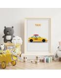 Plakat z samochodem Taxi 2