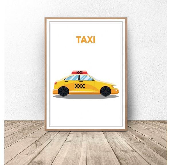 Plakat z samochodem Taxi