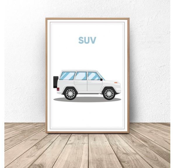 Plakat z samochodem Suv