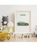 Plakat z samochodem Sedan