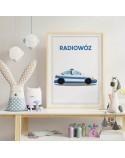 Plakat z samochodem Radiowóz