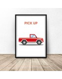 Plakat z samochodem Pick up 3