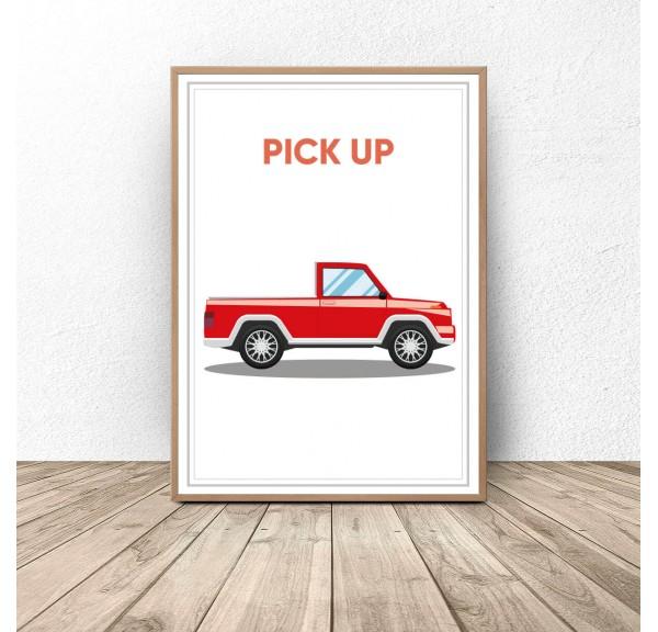 Plakat z samochodem Pick up
