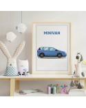 Plakat z samochodem Minivan
