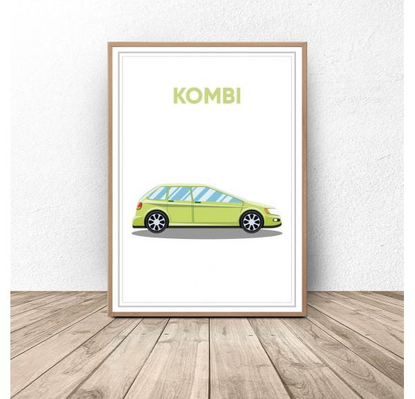 Plakat z samochodem Kombi