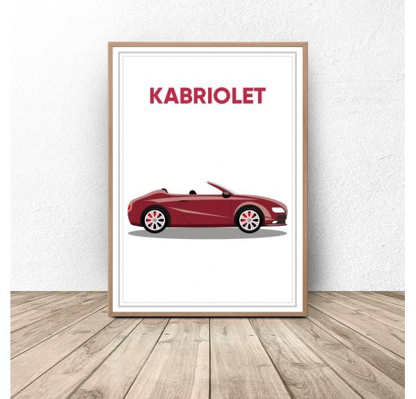 Plakat z samochodem Kabriolet