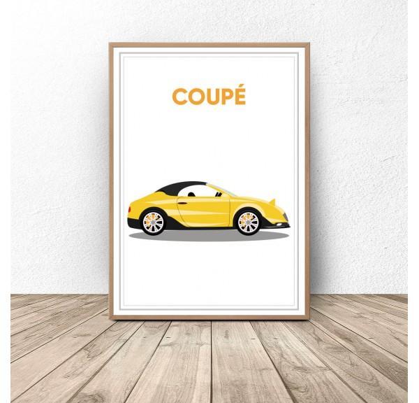 Plakat z samochodem Coupé