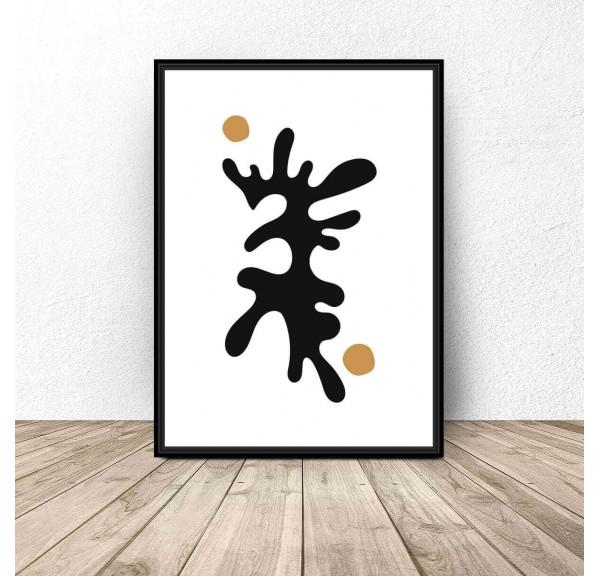 Plakat abstrakcyjny Kleks Matisse