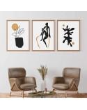 Zestaw 3 plakatów w stylu Matisse 2