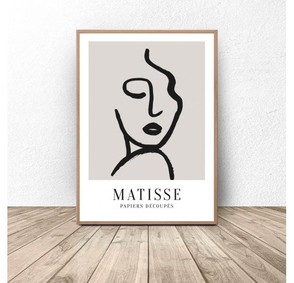 Plakat dekoracyjny Twarz kobiety Henri Matisse