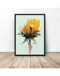 Roślinny plakat Słonecznik