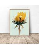 Roślinny plakat Słonecznik 2