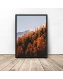 Plakat z górami Złota jesień