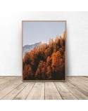 Plakat z górami Złota jesień 2