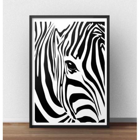 "Plakat z zebrą ""Oko zebry"""
