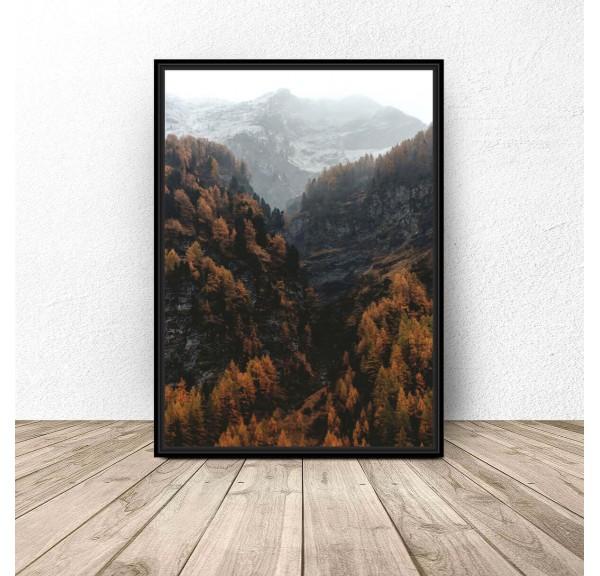 Plakat na ścianę Jesień w górach