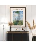 Plakat Kobieta z parasolem Claude Monet