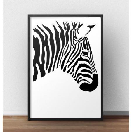 """Plakat z zebrą """"Prawy profil zebry"""""""