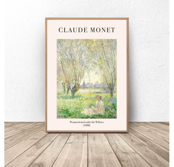 Plakat Kobieta siedząca pod wierzbą Claude Monet