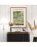 Plakat reprodukcja Mostek japoński Claude Monet