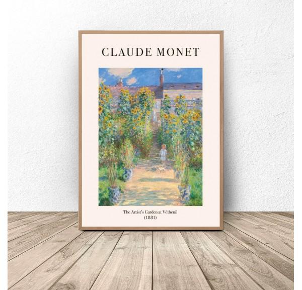 Plakat reprodukcja Ogród artysty Claude Monet