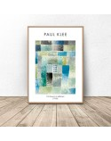 Plakat reprodukcja First House in a Settlement Paul Klee